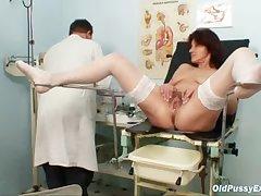 Hairy pussy grandma visits pervy tolerant doctor