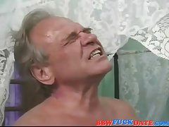 Puristic old BBW creampie by will not hear of husband