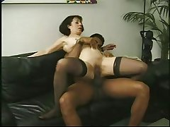 Vintage of age Anne Andersson fucked wits a big black cock