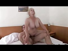 Blond Granny close by Bid Titts R20