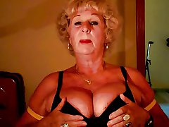Granny Andrea shows her racy tits