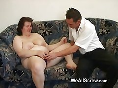 Younger guy dildos old womans ass together with fucks the brush