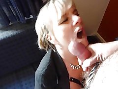 Granny Jasmine Gives A Blowjob In A Motel