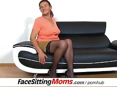 Submissive starring role during facesitting with stockings czech gilf Linda