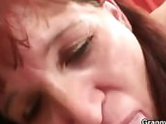 Granny newcomer gets pounded