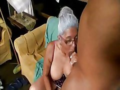 Old Lady loves Chunky Black Cock