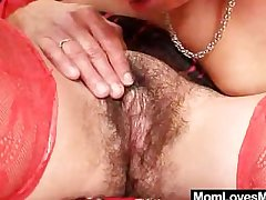 Crinite grandma with an increment of freaky madame crazy dildo hump