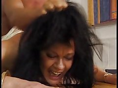 Hot Curvy Euro Black-hearted Granny
