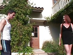 Hairy Big Titted Oldie Anastasia Fucks The Lawn Brat