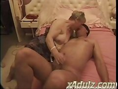 Chubby Granny Gets Turned on Watching Ameliorate Admass Step and Ends up Taking Both Their Cocks