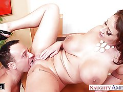 Big-busted brunette Eva Notty gets nailed
