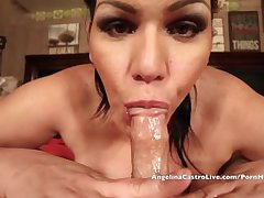 Angelina Castro Gets Cock & Cyclopean Facial Cum shot after Wield