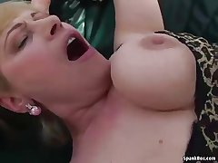 Busty blonde granny gets say no to pussy pounded