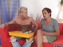 Hot anticipating guy bangs granny neighbour