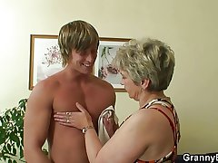 Old bitch pleases hot-looking young ray