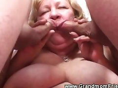 Granny loves her a handful of cock with reference to her