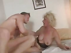 Czech Granny fucks hard