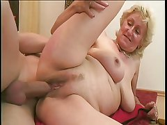 Monica: Big young cock together with one dildo for the sexy ancient little one