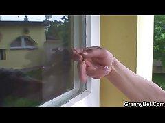 Hot cadger screws neighbour granny