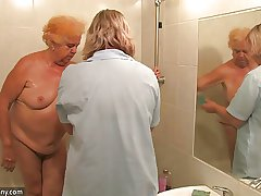 Clumsy mature - mediocre mature - mediocre mature shower gran