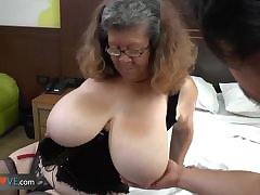 Agedlove granny on touching chunky tits banged