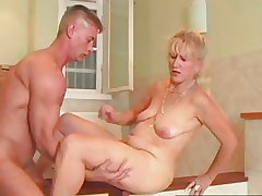 Down in the mouth Overprotect 71 blonde mature together with a young defy