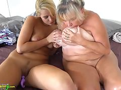 OLDNANNY Teen girl and her heavy heart of hearts and muddy pussy