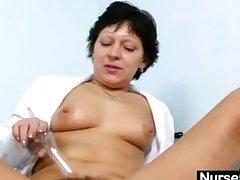 Sexy Milf more nurse uniform dilation soft pussy