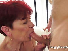 Lustful Granny Seduces A Youngster
