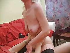 Granny Inga helter-skelter saggy tits gets fucked.