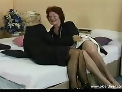 Old lesbians in concern suits stockings and heels get it mainly