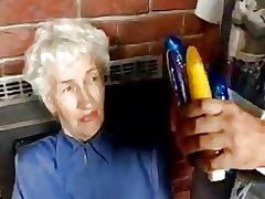 Prudish Granny connected with dildos