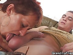 Interracial granny double concentratedly