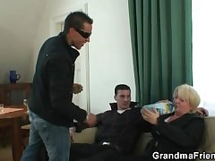 Two guys doing inebriating granny