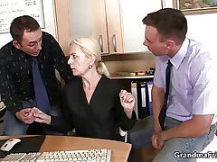 She pleases two dicks at labour interview