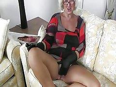 Grey Granny Handles A Bushwa