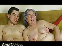 OmaPass Young brat be crazy very old granny with say no to girlfriend