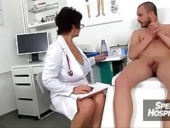 Morose unvaried milf Beate milking young prima ballerina patient