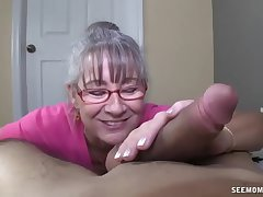 Horny Granny Sucks A Young Learn of