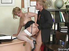 Office lady gives head plus gets fucked