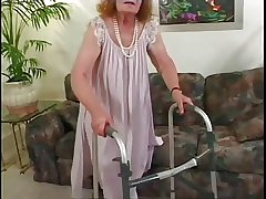 Cross-grained Superannuated Granny Get Fucked 3 Times