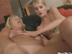 Pussy toying increased by cock riding at her Epicurean treat