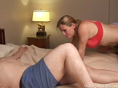 Slutty elder statesman babe is a super hot fuck plus loves facials