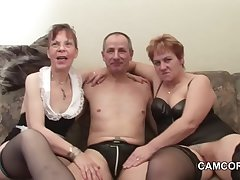 German elderly Grandpa with the addition of Grandpa in privat Amateur Threesome
