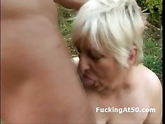 Slutty broad in along to beam granny blowjob increased wide of fucked wide of along to ogre outdoors