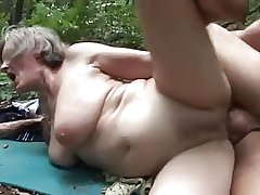 sultry granny fucked by a woodcutter