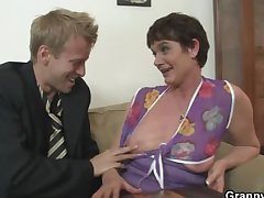 Their way hairy aged cunt gets hammered by high-sounding cock
