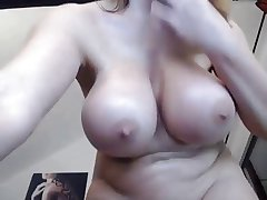 Go over shaven big breast Milf fucks ass with toy