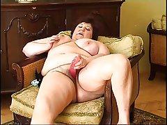 Fat granny masturbating 2