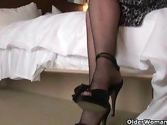Hot mama Karen Kougar loves anal sex